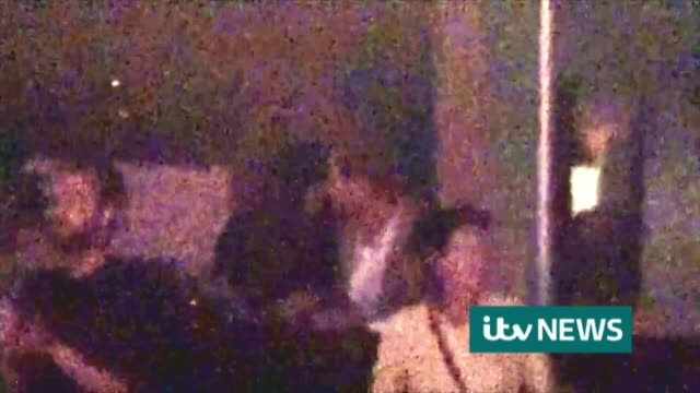 Last day of tournament / Prince Harry watches with Meghan Markle ITV News Exclusive footage 'Pictures from ITV News' onscreen credit must be...