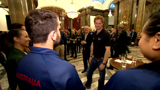 invictus games opening ceremony australia house int gvs prince harry meeting australian competitors of the invictus games - opening ceremony stock videos & royalty-free footage