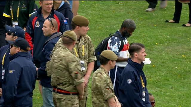 invictus games prince william and prince harry attend drumhead service **invictus games audio heard** more of drumhead service including clergyman... - choir stock videos & royalty-free footage