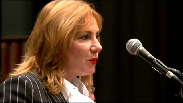 vídeos y material grabado en eventos de stock de involved in fraudulent expenses claim; lib hampshire: southampton: int janice atkinson mep speaking after being voted in as mep at european elections... - hampshire