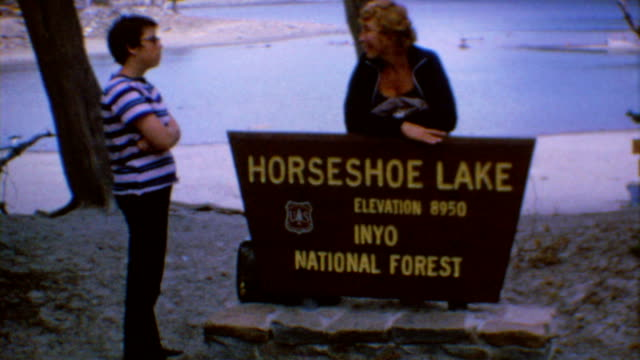 inyo national forest signage / lake and fishing / horseshoe lake on june 01 1972 in inyo national forest california - horseshoe stock videos and b-roll footage