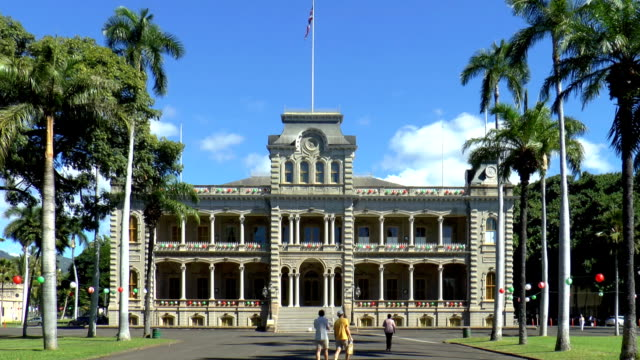 iolani palace - honolulu, hawaii - palace stock videos & royalty-free footage