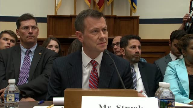 stockvideo's en b-roll-footage met iowa congressman steve king questions fbi deputy assistant director peter strzok about who was in the room during an interview with presidential... - voormalig