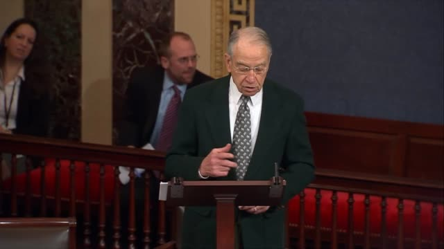 Iowa Senator Chuck Grassley argues in favor of a Congressional Review Act resolution rolling back a rule issued by the Social Security Administration...
