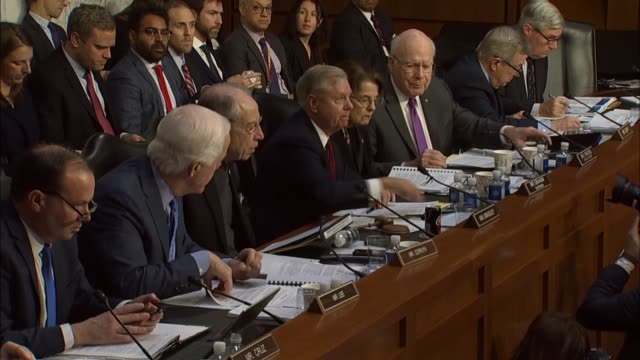 iowa senator chuck grassley asks justice department inspector general michael horowitz at a senate judiciary committee hearing about his report on... - michael horowitz stock videos & royalty-free footage