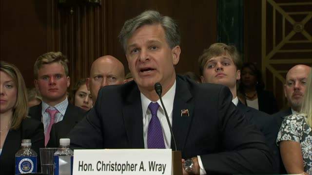 iowa senator chuck grassley asks nominee for director of the federal bureau of investigation christopher wray about his credentials for managing the... - christopher a. wray stock videos & royalty-free footage