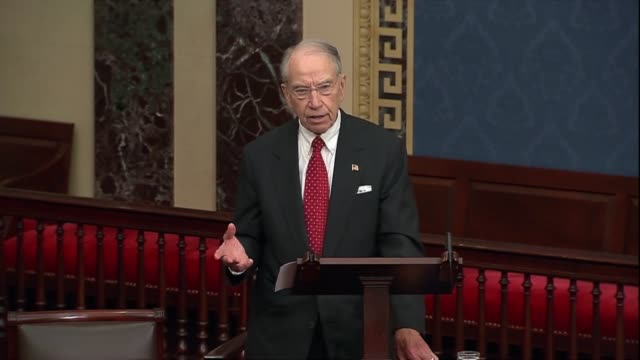 iowa senator chuck grassley says a day after the new york times published an account from a forthcoming book about a sexual assault allegation... - verification stock videos & royalty-free footage