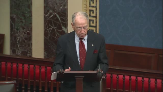 iowa senator chuck grassley says in a floor speech that the first amendment protects five fundamental freedoms that set america apart as the leader... - editorial stock videos & royalty-free footage