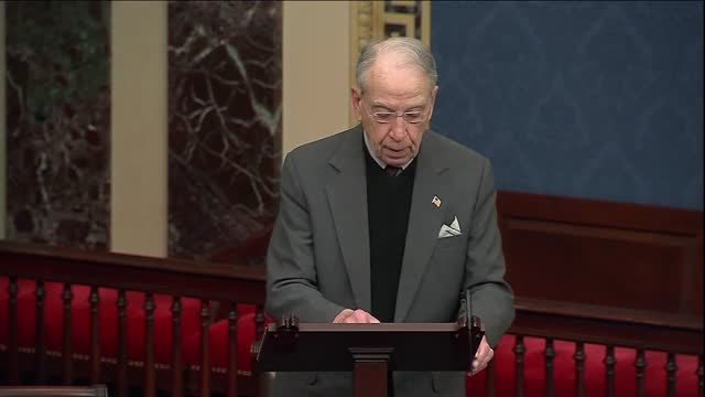 iowa senator chuck grassley says in floor remarks section 230 internet law that all realized big tech was not all bad, technology companies had... - big tech stock videos & royalty-free footage