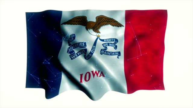 iowa stats flagga - 10 seconds or greater bildbanksvideor och videomaterial från bakom kulisserna