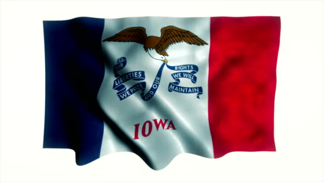 iowa state flag - 10 seconds or greater stock-videos und b-roll-filmmaterial