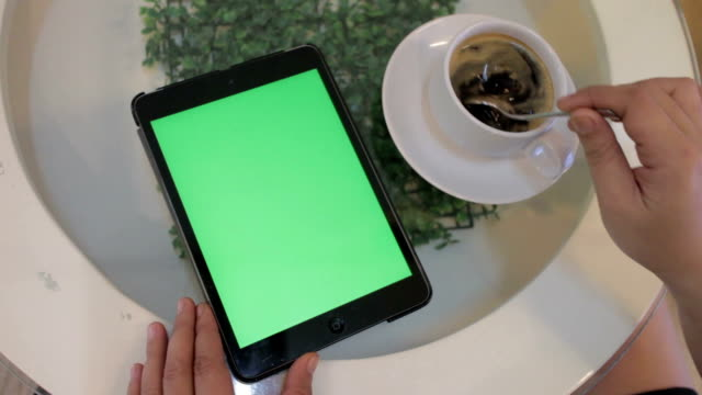 ipad green screen - froth art stock videos and b-roll footage