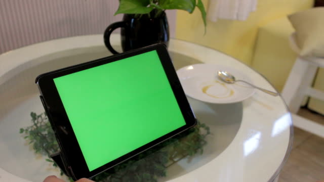 ipad green screen,close up - froth art stock videos and b-roll footage