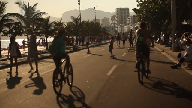 Ipanema Beach, Bicycle, Skater