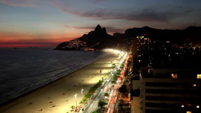 Ipanema Beach City Time Lapse