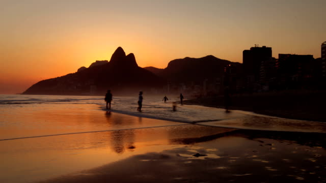 ipanema beach, rio de janeiro, brazil - copacabana beach stock videos & royalty-free footage
