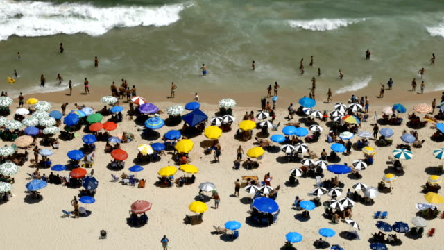 ipanema beach rio de janeiro - ultra high definition television stock videos & royalty-free footage