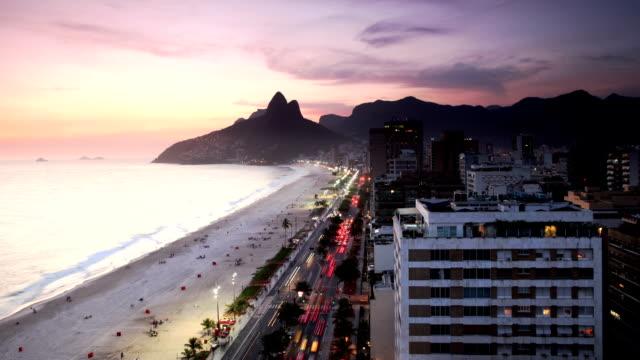 Ipanema Beach Time Lapse in Rio de Janeiro