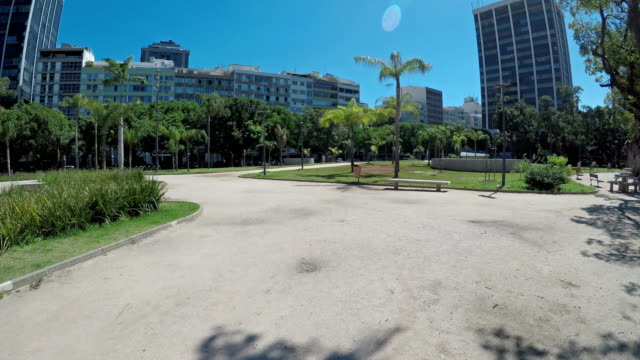 vídeos de stock e filmes b-roll de ipanema square in rio de janeiro - patio