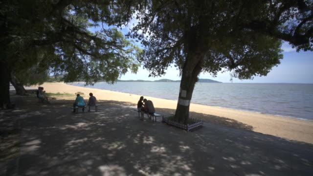 ipenima beach porto alegre, southern brazil. - alegre stock videos & royalty-free footage