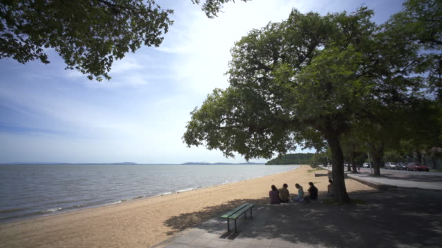 ipenima beach porto alegre, southern brazil. - bundesstaat rio grande do sul stock-videos und b-roll-filmmaterial