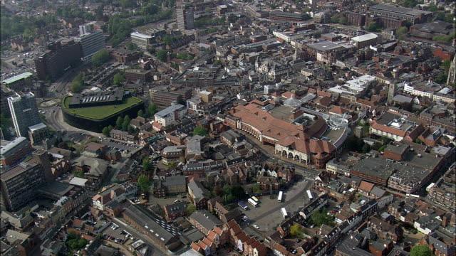 ipswich  - aerial view - england, suffolk, ipswich district, united kingdom - england stock videos & royalty-free footage