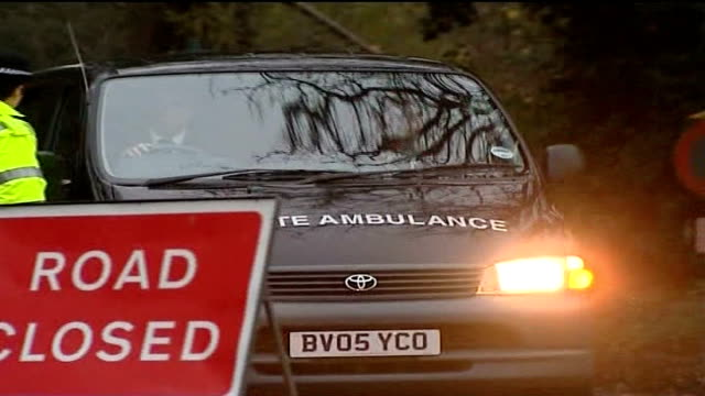 people warned to stay off streets as third murdered prostitute found; england: suffolk: nacton: ext ambulance towards past pull out - murder stock videos & royalty-free footage