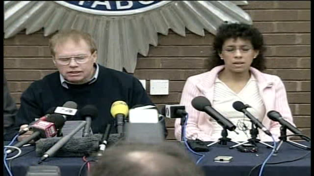police narrow list of suspects / tania nicol's parents' press conference jim duell press conference sot tania was caring loving sensitive girl/ - narrow stock videos & royalty-free footage