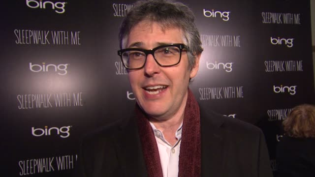ira glass on his film at sundance, and on the process of filmmaking at bing bar sundance 2012 - day 5 in park city, utah, on 1/23/2012 - day 5 stock videos & royalty-free footage