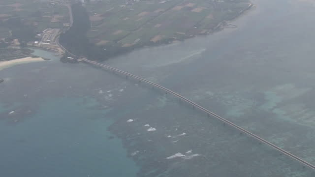 aerial, irabu ohashi bridge and miyako island, okinawa, japan - satoyama scenery stock videos & royalty-free footage