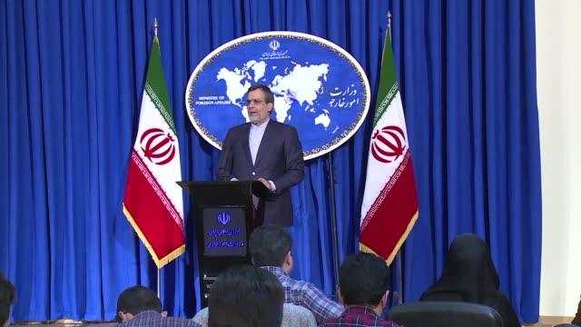vídeos y material grabado en eventos de stock de iran anuncio este lunes que las nuevas sanciones de estados unidos contra el programa balistico de iran son ilegitimas - ee.uu