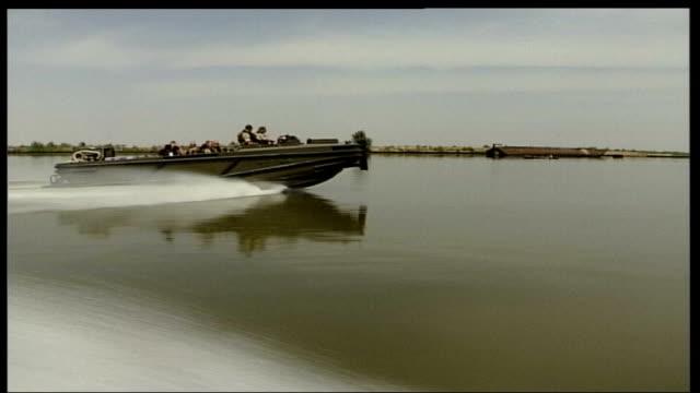 Iran continues to hold 15 British sailors and marines TX March 2003 Al Faw Peninsula British patrol boats along on waterway