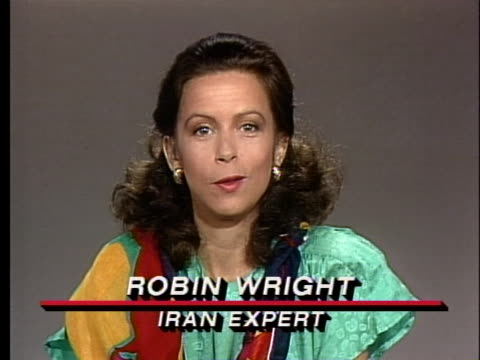 iran expert robin wright discusses the lack of political opposition groups in iran - middle eastern ethnicity stock videos & royalty-free footage
