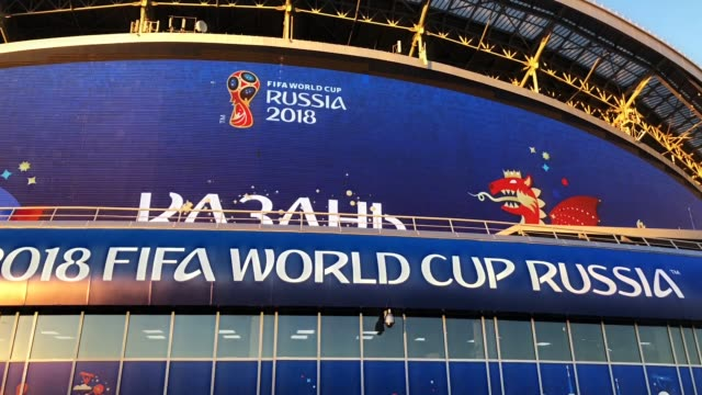 vídeos y material grabado en eventos de stock de iran fans ahead of the game against spain. iran v spain during the 2018 fifa world cup russia group b match between iran and spain at kazan arena on... - fifa
