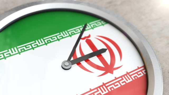 iran flag clock timelapse - nuclear weapon stock videos & royalty-free footage
