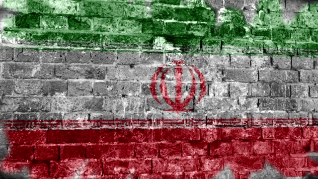 iran flag grunge wall. 4k - iran stock videos and b-roll footage