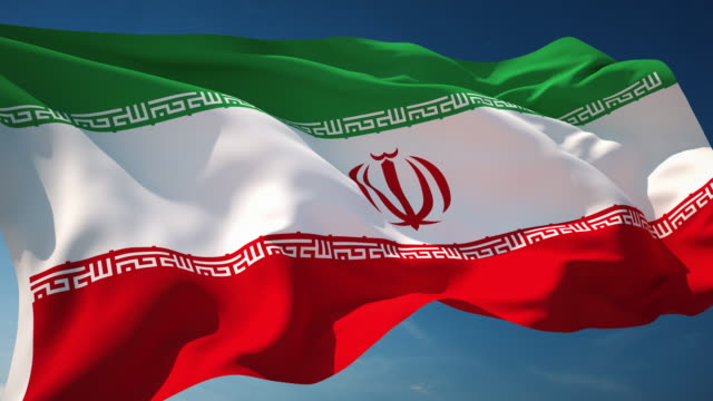 4k iran flag - loopable - iran stock videos and b-roll footage