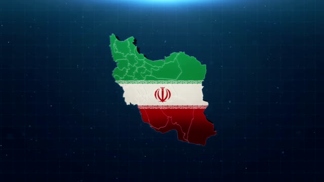4k iran map with national flag - nuclear power station stock videos & royalty-free footage
