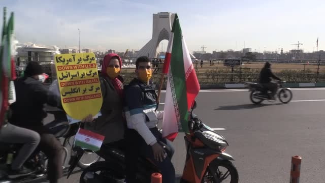 iran marked the 42nd anniversary of the 1979 revolution this year in a remarkably subdued way owing to countrywide covid-19 restrictions. instead of... - homecoming stock videos & royalty-free footage