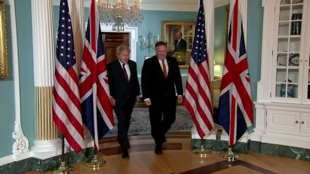 Boris Johnson appears on Donald Trump's favourite news programme to argue for keeping the deal intact USA Washington White House INT Mike Pompeo and...