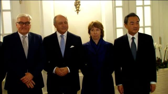 iran nuclear talks deadline extended by 7 months; austria: vienna: int us secretary of state john kerry, british foreighn secretary philip hammond... - 男爵夫人点の映像素材/bロール