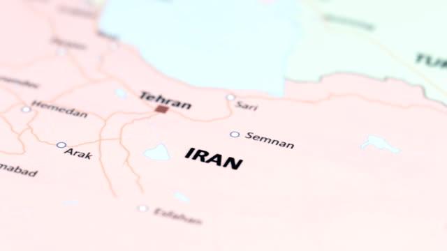 Asien-Iran auf Weltkarte
