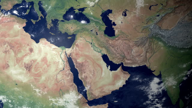 iran  pops up after earth zoom (with alpha matte) - middle east stock videos & royalty-free footage