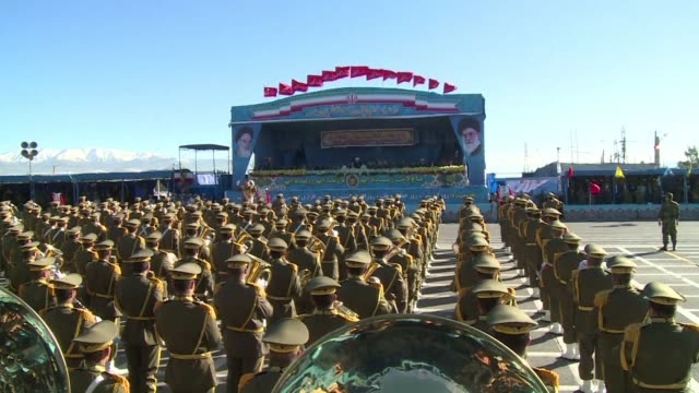 iran used its annual army day parade sunday to showcase parts of a long awaited air defence system ordered from russia a move likely to irk critics... - iran stock videos & royalty-free footage