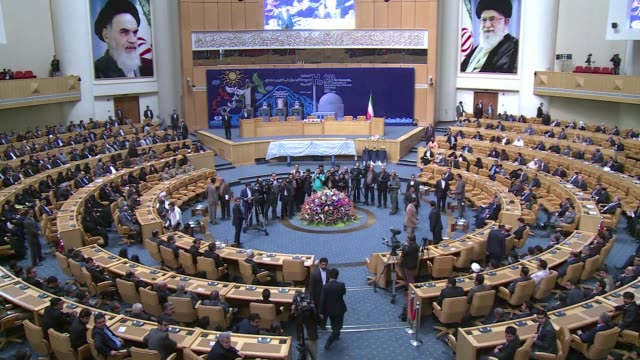 iran wants international sanctions lifted on the day of the implementation of an agreement with world powers over its nuclear programme president... - thursday stock videos and b-roll footage
