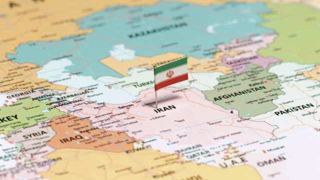 iran with national flag - iran stock videos and b-roll footage