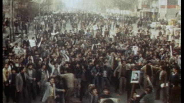 iranian celebrating after shah of iran is disposed - 1979 stock videos & royalty-free footage