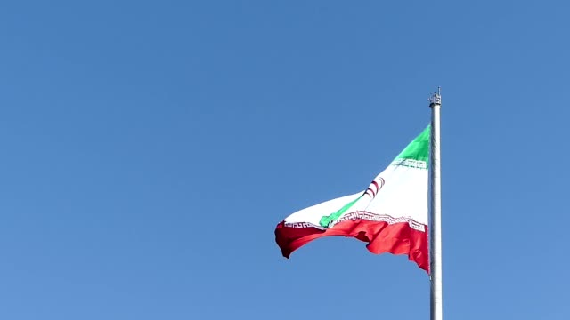 iranian flag seen from tabiat bridge in tehran, iran - tehran stock videos and b-roll footage