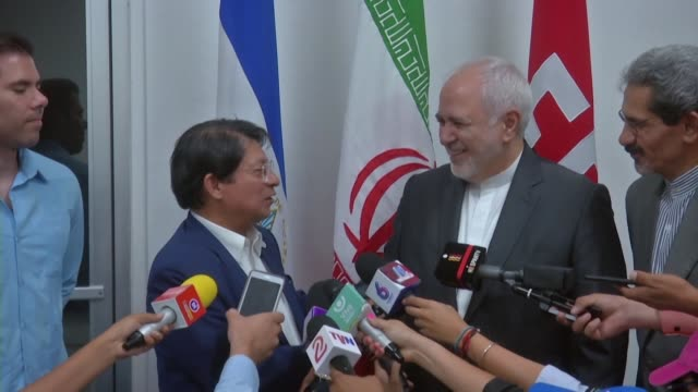 iranian foreign minister mohammad javad zarif arrives in managua for an official visit to nicaragua - managua stock videos & royalty-free footage