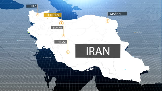 iranian map with label then with out label - iran stock videos and b-roll footage